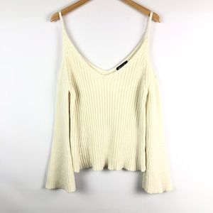 Nasty Gal Sweater Bell Sleeves & Shoulder Cut Out